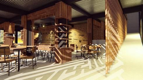 Kaaisungan Sibarrung:  Koridor dan lorong by Pr+ Architect