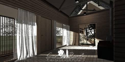 Casa Modular Térmica: Pasillos y hall de entrada de estilo  por casa rural