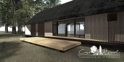 Casa Modular Térmica: Ventanas de estilo  por casa rural