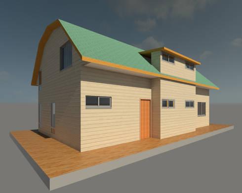 Vista 3d exterior:  de estilo  por PROYECTOS ARQUIMORAM
