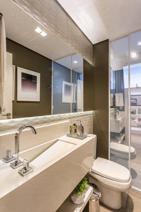 Banheiro: Banheiro  por Juliana Agner Arquitetura e Interiores