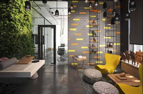 CIMENTO瓷磚:  客廳 by 北京恒邦信大国际贸易有限公司