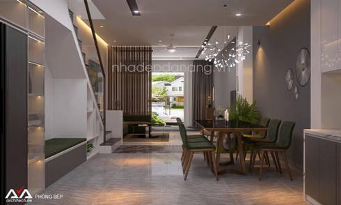 Thiết kế nhà đẹp 3 tầng Khu đô thị sinh thái Hòa Xuân, TP. Đà Nẵng:  Nhà bếp by AVA Architecture