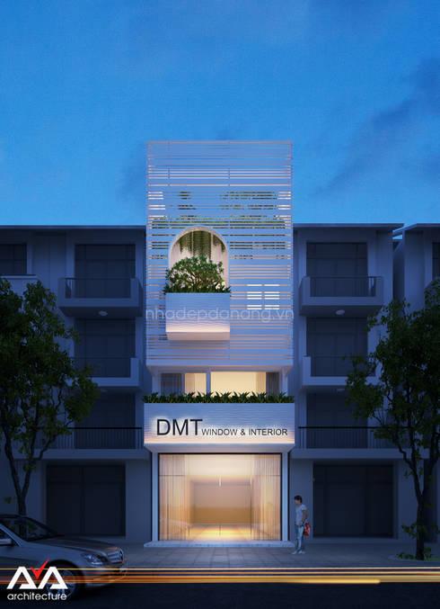 Mặt tiền nhà phố đẹp Khu đô thị sinh thái Hòa xuân, TP. Đà Nẵng:  Nhà by AVA Architecture