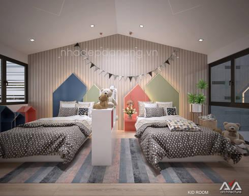 Mặt tiền nhà phố đẹp Khu đô thị sinh thái Hòa xuân, TP. Đà Nẵng:  Phòng trẻ em by AVA Architecture
