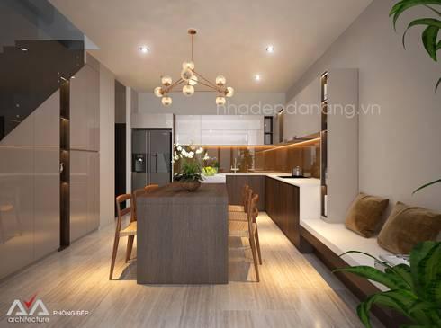 Thiết kế nhà phố đẹp tại Đà Nẵng:  Nhà bếp by AVA Architecture