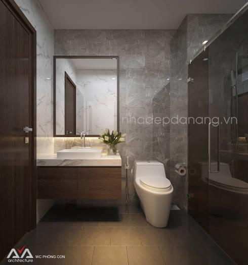 Thiết kế nhà phố đẹp tại Đà Nẵng:  Phòng tắm by AVA Architecture