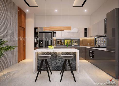 Thiết kế biệt thự hiện đại 3 tầng:  Nhà bếp by AVA Architecture