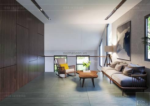 Thiết kế biệt thự hiện đại đẳng cấp với gỗ tự nhiên:  Phòng giải trí by ICON INTERIOR