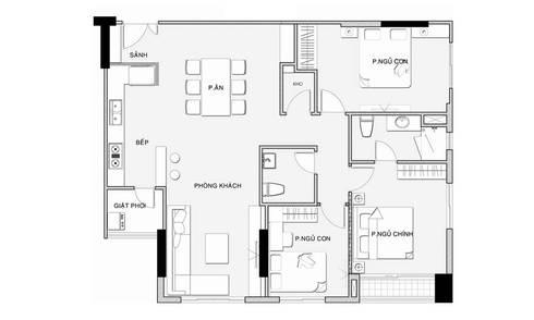 mặt bằng căn hộ hiện đại:   by CÔNG TY THIẾT KẾ NHÀ ĐẸP SANG TRỌNG