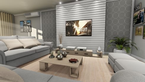 Lining Room desing: modern Living room by A&L 3D Specialists