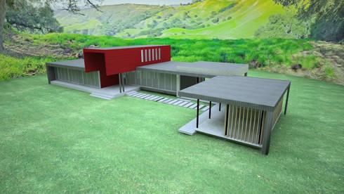 VIVIENDA FACHADA NORTE : Casas unifamiliares de estilo  por ARKITEKTURA