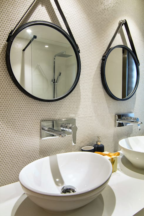 Detalle del baño del dormitorio ppal.: Baños de estilo  de Keinzo Interiores