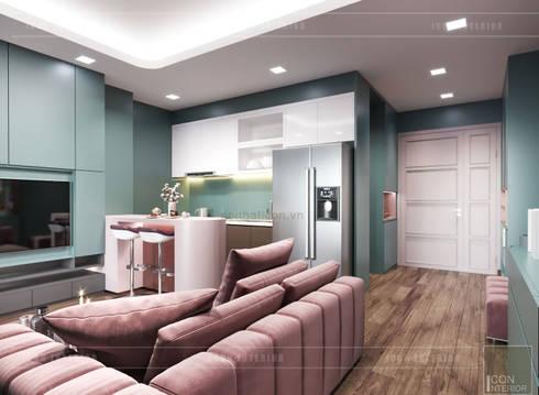 Đẹp Khác Biệt với Thiết kế căn hộ Landmark 81 của ICON INTERIOR:  Phòng khách by ICON INTERIOR