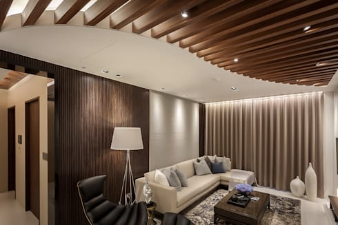 Interior Design - Ko Residence:  客廳 by 王子華設計工作室
