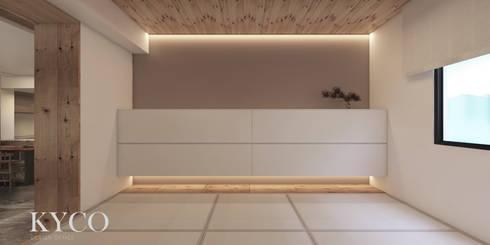 蘆洲林宅(日式簡約):  牆面 by 芮晟設計事務所