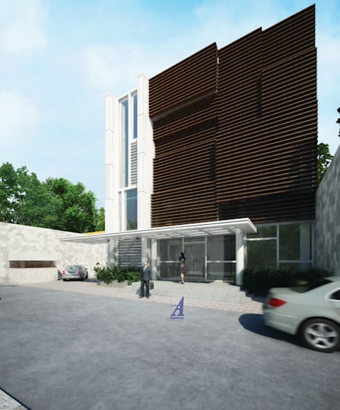 GRAHA SARINA VIDI (VIDI OFFICE) - YOGYAKARTA, INDONESIA:  Gedung perkantoran by Asta Karya Studio