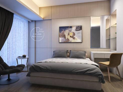 隱約奢華 低調時尚品味宅:  臥室 by 木博士團隊/動念室內設計制作