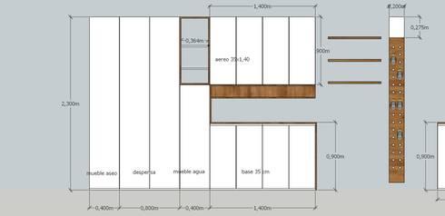 Cocina RD: Cocina de estilo  por MMAD studio - arquitectura & mobiliario -
