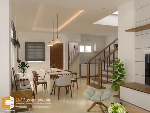 Dining Area Interior Perspective: asian Dining room by CB.Arch Design Solutions