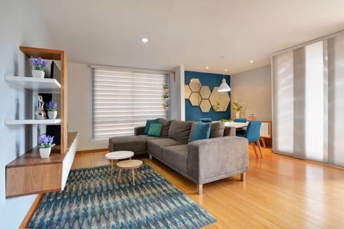 Gauss, disfruta cada espacio: Salas de estilo moderno por Natalia Mesa design studio
