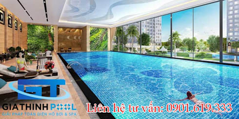 Thiết kế thi công hồ bơi nghỉ dưỡng:   by GiaThinhPool & SPA