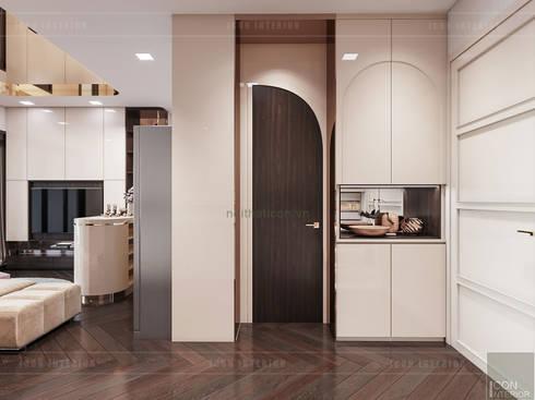 THIẾT KẾ NỘI THẤT MONOCHROME CĂN HỘ LANDMARK 81 – Tiêu chí <q>Less is more</q> trong thiết kế nội thất:  Cửa ra vào by ICON INTERIOR