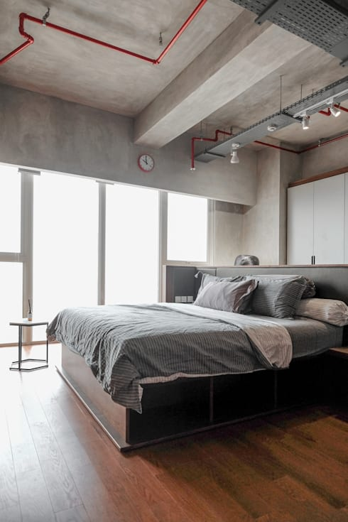 Industrial Bedroom:  Kamar Tidur by FIANO INTERIOR