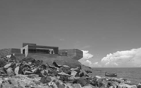 Vista desde la playa: Casas de estilo moderno por mutarestudio Arquitectura