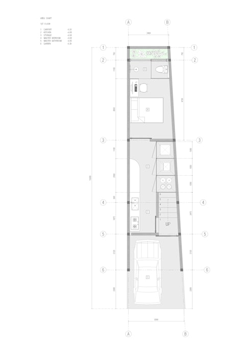 Denah lantai 1:   by studio moyn