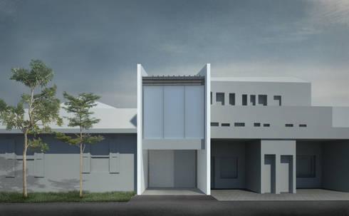 Tampak depan AS-house (tertutup):   by studio moyn