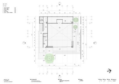 Denah lantai - 1:   by studio moyn