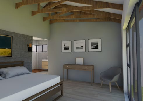 View of Bedroom: modern Bedroom by ENDesigns Architectural Studio