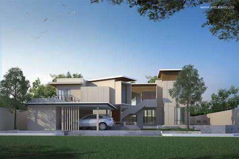 EXTERIOR PERSPECTIVE:   by MANA ATELIER CO.,LTD