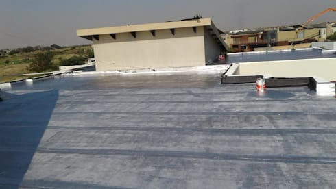 Waterproofing of a residential house slab roof in Serengeti Surburbs:   by BC Construction