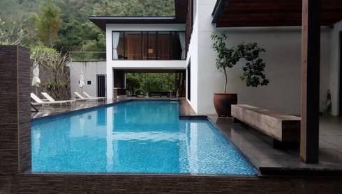 別墅泳池規劃要點:  庭院泳池 by 上群休閒水藝開發有限公司
