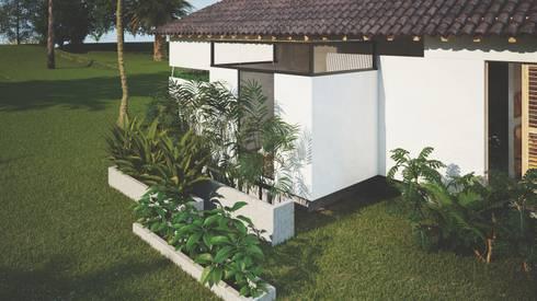 exterior baños hotel miraflores: Hoteles de estilo  por Adrede Diseño