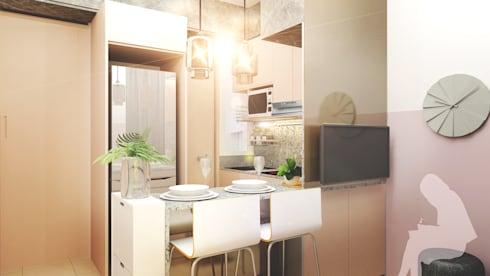 Living & Dining Area:  Dapur by Co+in Collaborative Lab