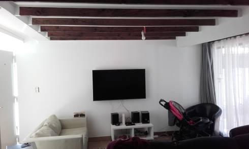 Interior Nuevo Living:  de estilo  por DIEGO ALARCÓN & MANUEL RUBIO ARQUITECTOS LIMITADA