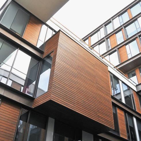 Exterior Cladding:  Walls & flooring by Motama Interiors and Exteriors
