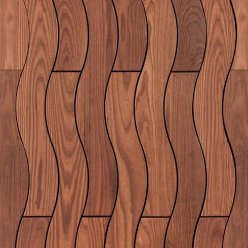 Curly Decking:  Walls & flooring by Motama Interiors and Exteriors