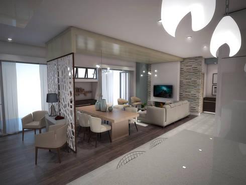 Interior Design for Phakalane Estate House: minimalistic Living room by Kori Interiors