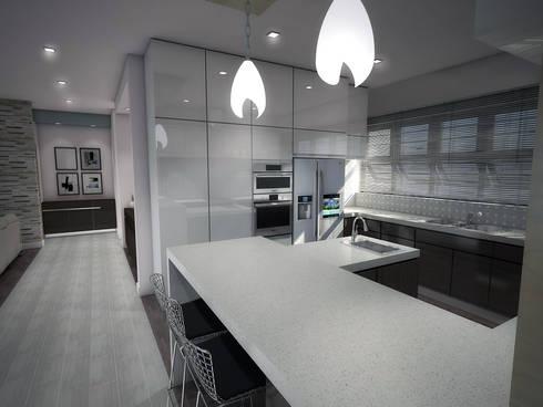 Interior Design for Phakalane Estate House:  Built-in kitchens by Kori Interiors
