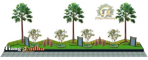 Taman Halaman Depan Pabrik:  Halaman depan by Tukang Taman Surabaya - Tianggadha-art
