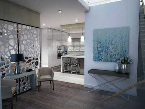 Main Entrance: minimalistic Living room by Kori Interiors