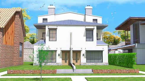twin duplex design in Denver, Colorado.:   تنفيذ Quattro designs