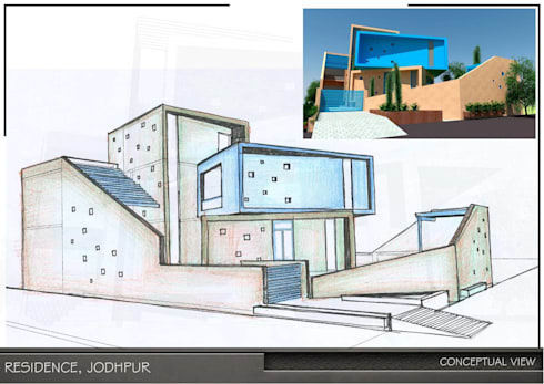 Prakash House:  Bungalows by Design Shelve