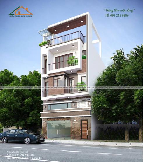 Nhà phố hiện đại - Anh Tịnh:   by Công ty CP kiến trúc và xây dựng Eco Home