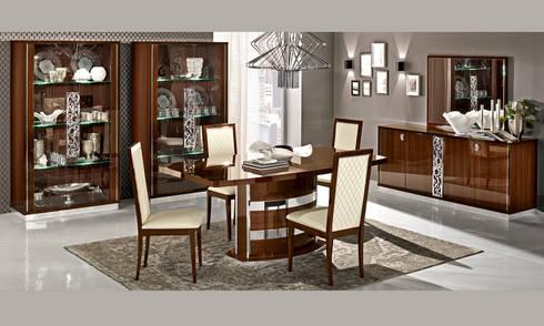 Esszimmer Komplett Set Nussbaum Hochglanz Modern Möbel Aus Italien