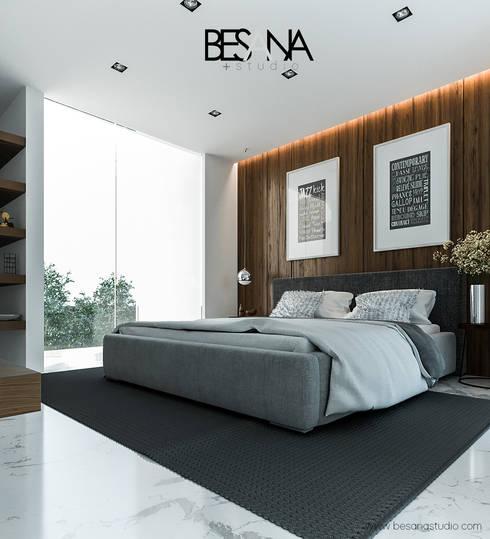 Recamara: Recámaras de estilo  por Besana Studio